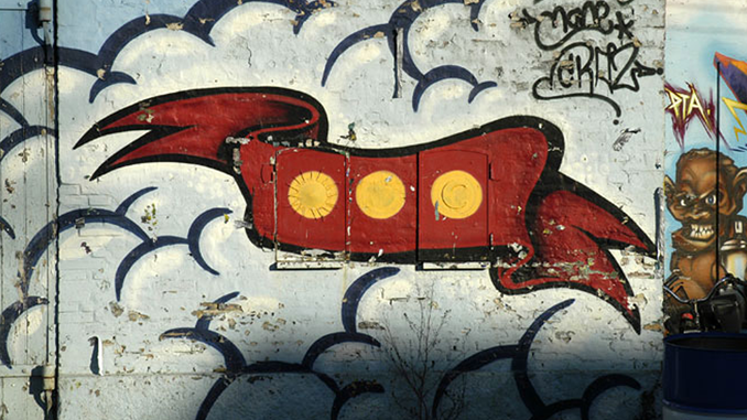 Painted logo of Christiania